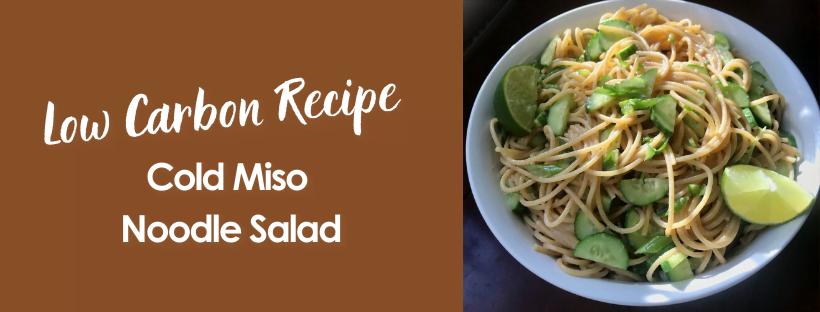Cold Miso Noodle Salad